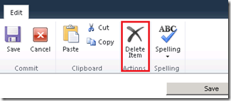 Create a Custom Delete Button on SharePoint List Form using ECMAScript and Client Object Model