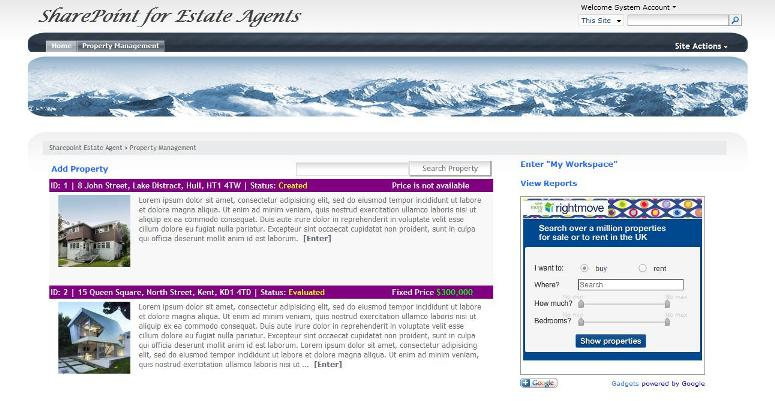 Building a Property Management Solution on SharePoint 2007 Platform