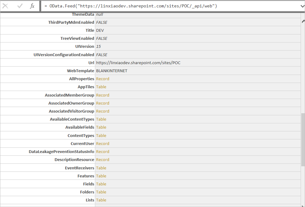 Inspecting SharePoint Metadata using Power Query