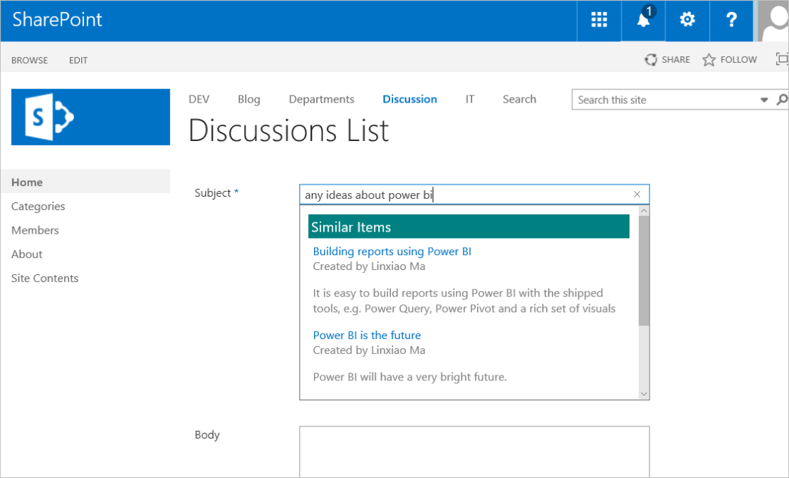 "Developing ""Similar Items"" Suggestion panel using AngularJS framework and SharePoint Search"