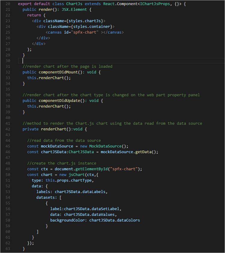Building SPFx Client-Side Web Parts using Chart js – Azure Data Ninjago